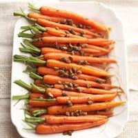 Glazed Carrots with Pistachios!  This is making it's debut at Thanksgiving dinner.