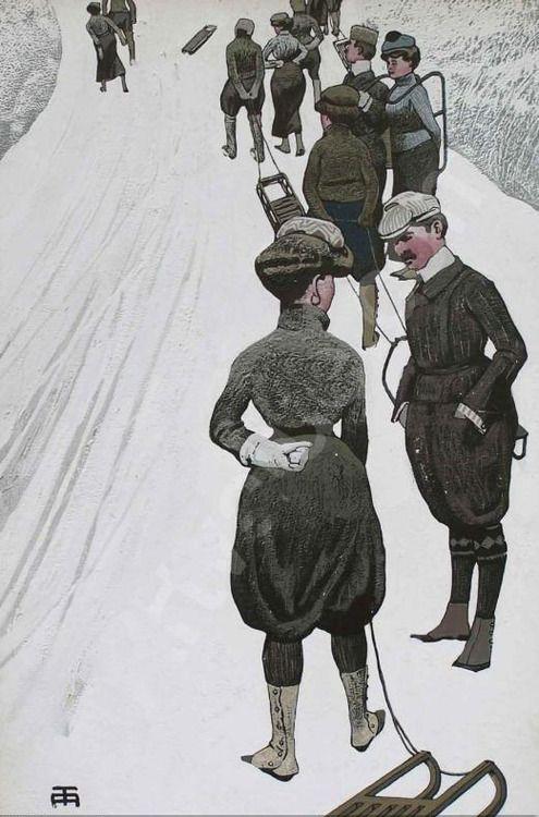 Eduard Thöny, um 1910.