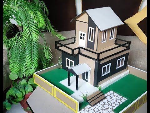 طريقة سهلة لصنع منزل رااائع من ورق الكرتون Dream House Youtube Miniature Art Miniatures Decor