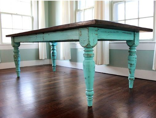 Distressed dining table tables pinterest need to distressed dining tables and tables - Painted dining tables distressed ...