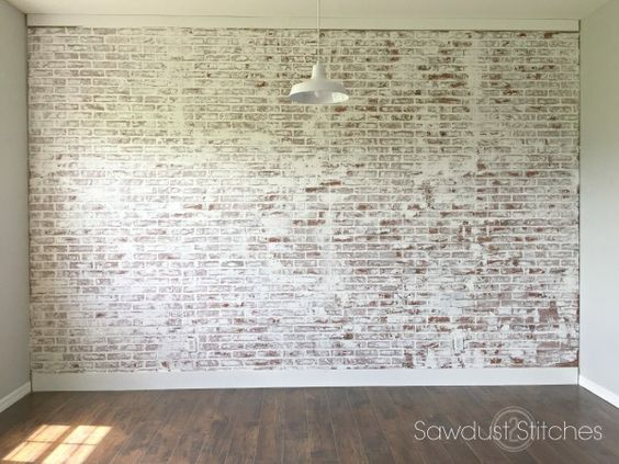 How To Faux Brick Wall Clothing Stitches And Interior