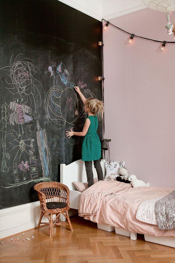 海外 子供部屋 インテリア 黒板 落書き コーディネート例