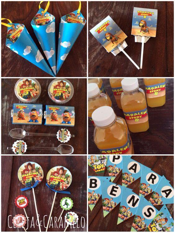 Escolha as peças e nós personalizamos... Cones de pipocas, garrafas com sumo, chupas, caixas de smarties, chocolates, colheres, grinaldas e variados palitos de brigadeiros e cupcake