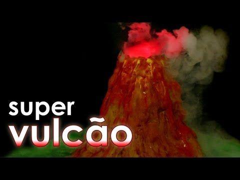 Super vulcão para feira de ciências