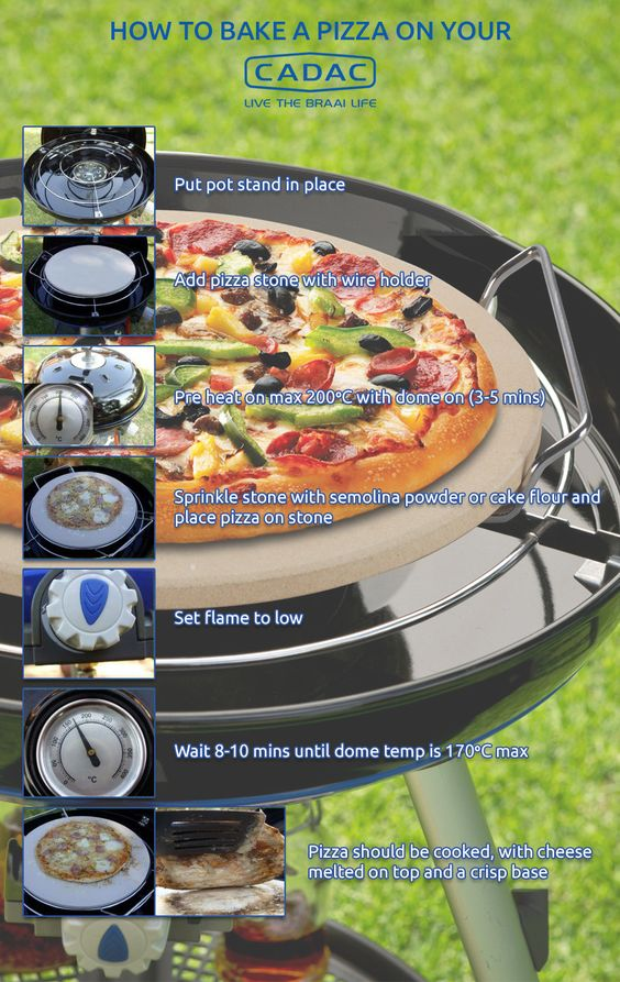 Baking pizza on Cadac
