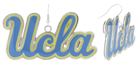 XXL Blue and Gold UCLA Game Day Fish Hook Earrings