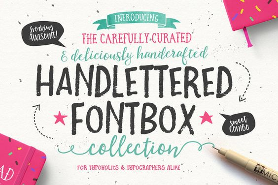 The Handlettered Fontbox Collection by Nicky Laatz