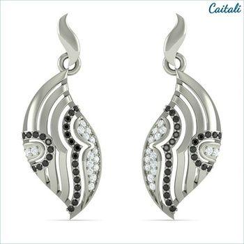 Simora White Stone Drop Earring - Caitali (Sterling Silver)