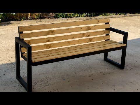 Modern Outdoor Bench Steel Wood Youtube In 2020 Modern Bench Outdoor Metal Outdoor Bench Outdoor Bench