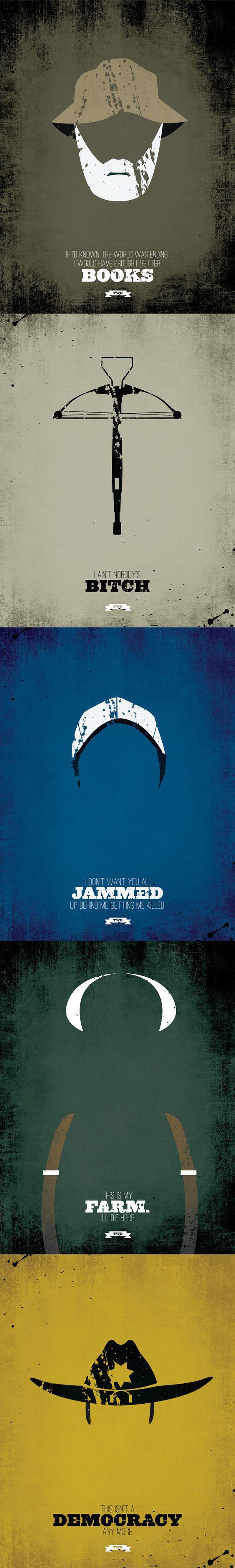 Walking Dead minimalist poster designs.