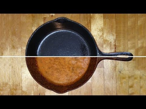 Cast Iron Restoration Seasoning Cleaning Cooking Cast Iron Skillets Griddles And Pots Youtube Cast Iron Cleaning Cast Iron Cast Iron Griddle