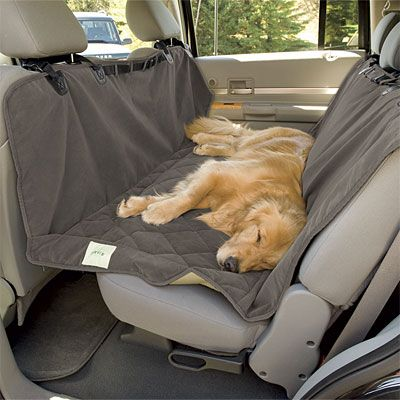 Just found this Dog+Hammock+Seat+Cover+-+Deluxe+Microfiber+Car+Hammock+Seat+Protector+--+Orvis on Orvis.com!
