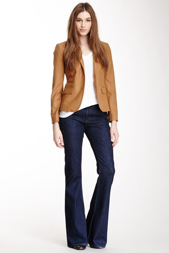 carmel blazer and jeans