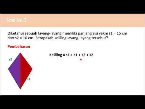 Contoh Soal Luas Dan Keliling Layang Layang Belajar Matematika