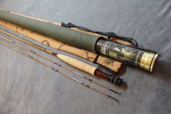 """ORVIS CO. - MAKERS, MANCHESTER,VT MODEL """"CUSTOM EDITION OF 1/1 BATTENKILL"""", Built in 1995. 7 1/2' 2PC 2TIP 5/6 WT Very nice crisp dry fly action. Special built with light and dark strips of cane. Impregnated."""
