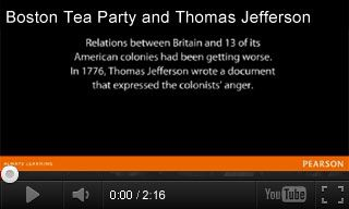 Independence Day Video: Boston Tea Party and Thomas Jefferson http://www.teachervision.fen.com/fourth-of-july/video/73340.html This video gives a brief overview of historical events leading up to the signing of the Declaration of Independence. It's paired with three classroom activities for grades K-3. #FourthOfJuly #AmericanHistory