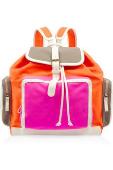 Add a punch of neon with this @PIERREHARDYNEWS backpack @netaporter
