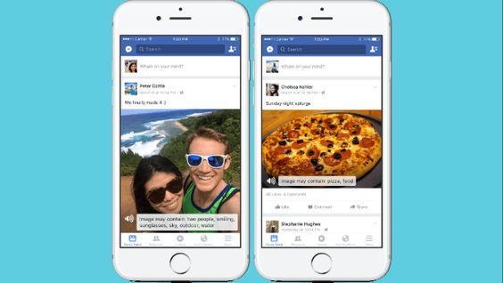 Facebook начал использовать искусственный интеллект для добавления описаний к фотографиям для слепых и слабовидящих пользователей