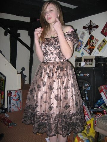 OW HELP ME MY SISTER TALKED INTO TRYING ON MOMS DRESS