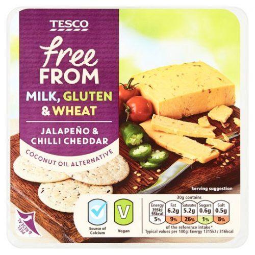 Tesco Jalapeno Chilli Vegan Cheddar