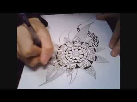 Doodle Botanical Zentangle - YouTube