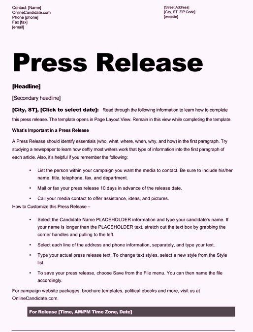 Standard Media Release Form Template Unique Free Sample Press Release Template Word Invoice Template Word Press Release Template Invoice Design Template