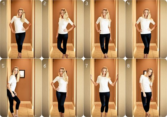 flattering poses for a female-