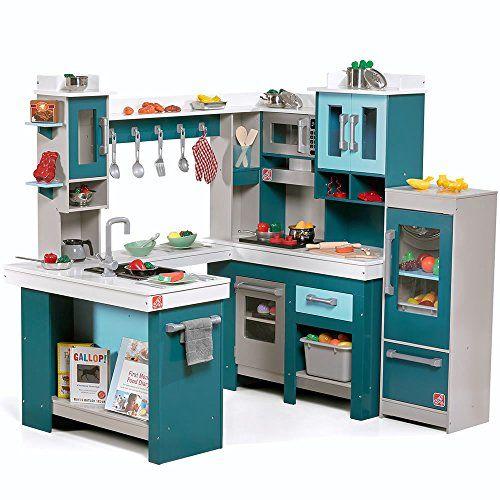 Step2 Grand Walk In Wooden Play Kitchen Step2 Kitchen Sets For Kids Diy Play Kitchen Kitchen Sets