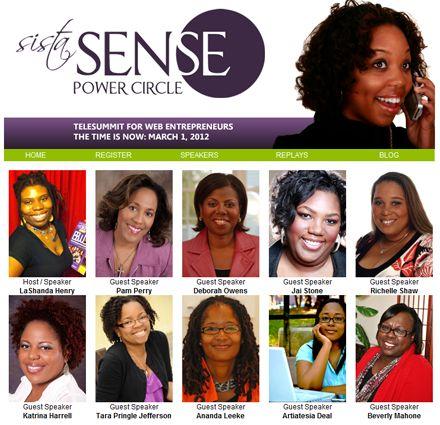 SistaSense Power Circle TeleSummit for Web Women Entrepreneurs http://bit.ly/moZfaV