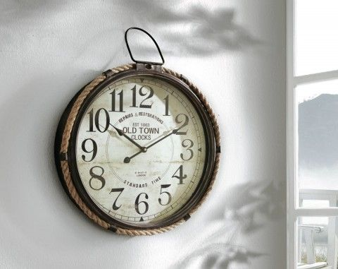 wanduhr antik antike wanduhr wanduhr metall vintage. Black Bedroom Furniture Sets. Home Design Ideas
