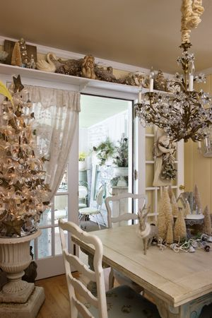 Shabby Chic Christmas Shabby Chic And Sliding Glass Door