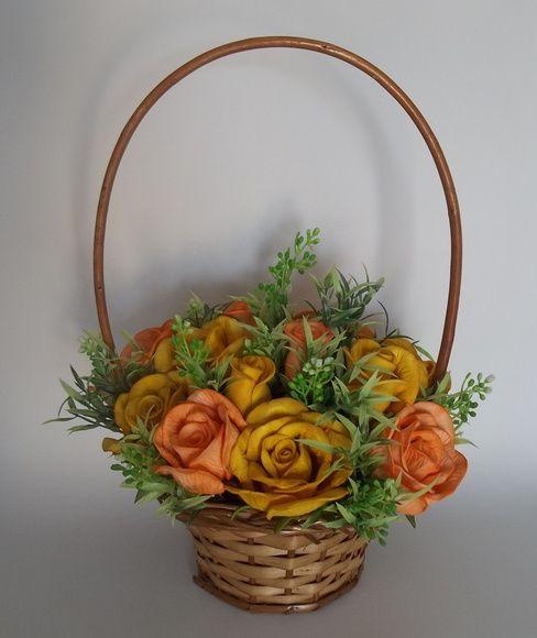 Cesta De Flores Com Rosas Em Eva Com Imagens Cesta De Flores