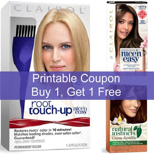 Clairol Hair Color Printable 5 Coupon Clairol Hair Color Clairol Clairol Root Touch Up