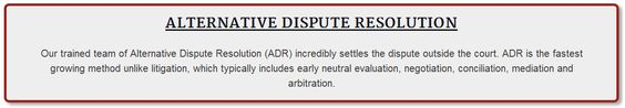 #Alternative_Dispute_Resolution #ADR   For Queries: Tel: +92 321 4000911, +92 308 4000888 UAN: +92 42 111 042 326 info@solutionseekerspakistan.com  #‎USA‬ ‪#‎Dubai‬ ‪#‎MyDubai‬ ‪#‎UAE‬ #UK ‪#‎London‬ ‪#‎Pakistan‬