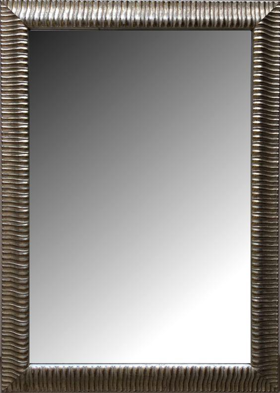 Espejo biselado estilo moderno con marco en madera modelo for Espejo envejecido precio