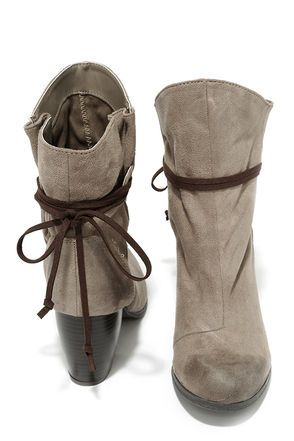 Keeping It Chill Taupe Oil Finish Slouchy Ankle Boots at Lulus.com!