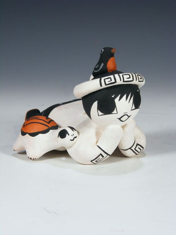 Acoma Pueblo Pottery Storyteller by Aggie Henderson