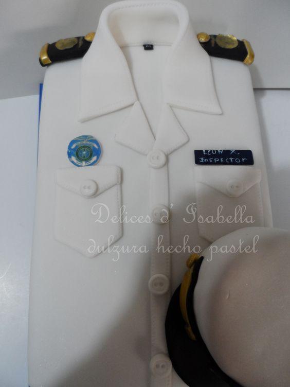 Torta camisa inspector ANAI dulzura hecha pastel