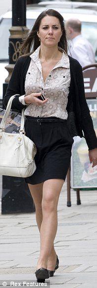 Kate Middleton shopping on Bond Street, London, June 12, 2009.