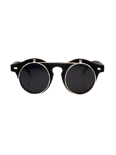 Matte Black Flip Up Sunglasses