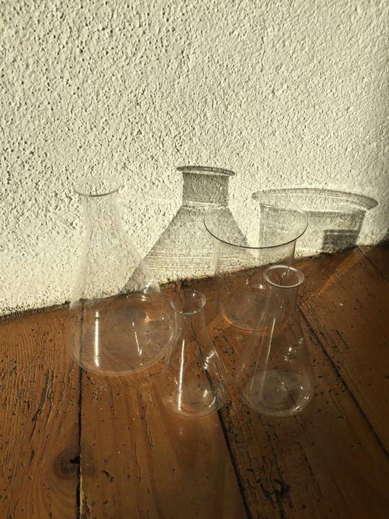 Antique Science Lab Glassware Laboratory by ancienesthetique