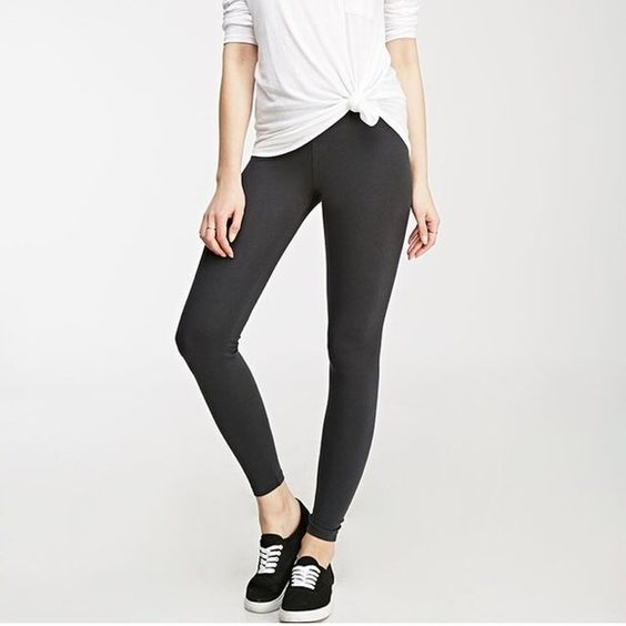 grey leggings -Items do come from a pet friendly home (1dog-1cat) in case anyone is allergic and needs to know! Forever 21 Pants Leggings
