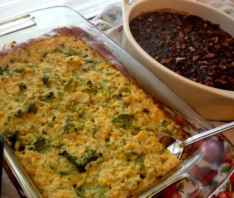 Green rice casserole. My favorite dish for the holidays!