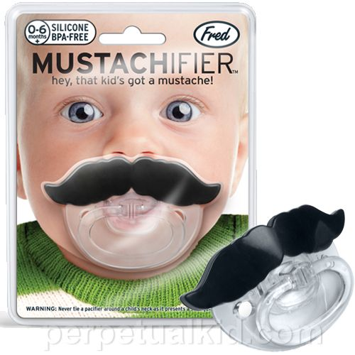 Funny! Mustache pacifier...