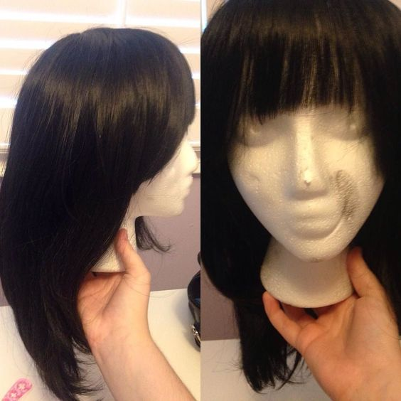 I wanted to fix this wig up but while i brushed it out i was thinking about selling it? And now im trying to think about any character i could use it for before i get rid of it so if anyone has any suggestions it would be greatly appreciated!  #animecosplay #cosplayhelp