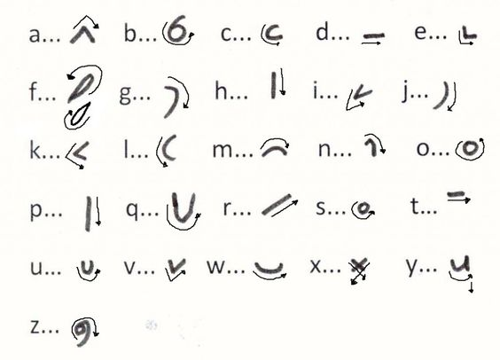 Shorthand symbol for with