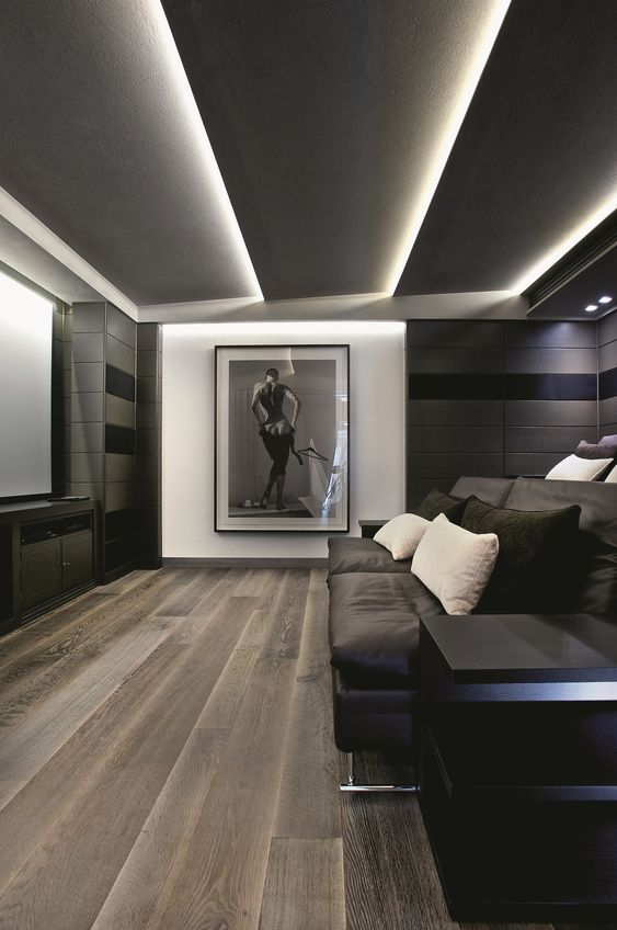 ♂ Modern, masculine interior.living room space