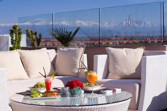 Hivernage Hôtel & Spa Marrakech - Member of Warwick International #Hotels #terrace #marrakesh