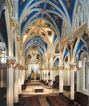 Catholic Basilica of the Sacred Heart, University of Notre Dame, Notre Dame, Indiana: