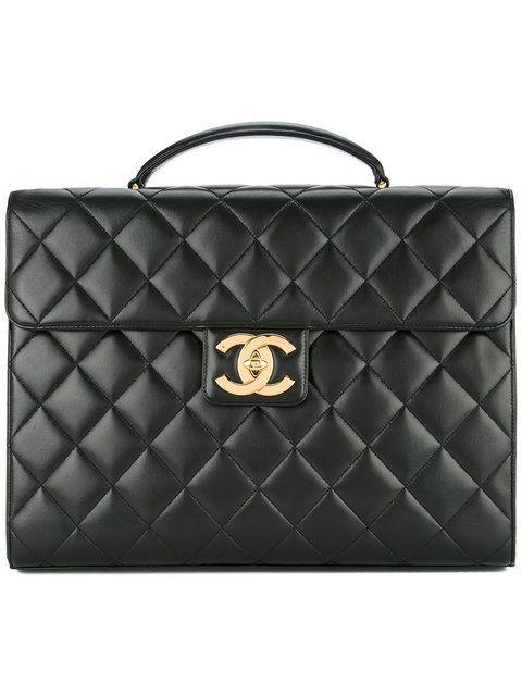 Chanel Vintage Quilted Business Briefcase Handbag Farfetch